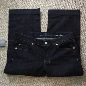NWT 7 for all mankind cropped dojo jeans size 29